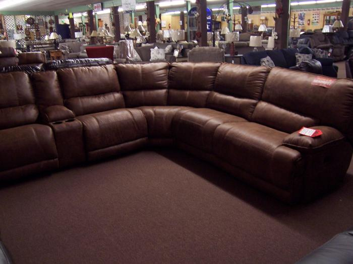 Power reclining sectional. Was $3149.00,Ahner New Furniture