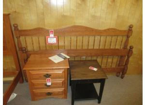 Amish Solid Oak King bed. Was $995.00