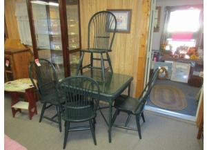 Wood/Wicker 5 pc dinette