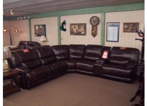 Leather Sectional W/Power Headrest recliners. Was 3599.00