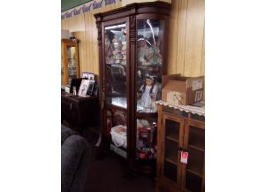 Bowed Glass Curio. Was $1395.00