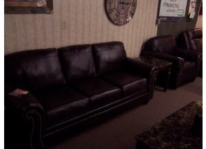 Leather sofa and chair. Was $1638.00