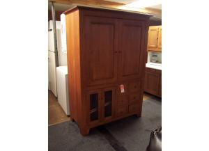 Large custom solid oak tv armoire