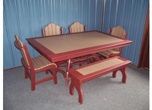 Amish made 6 Pc Poly Table Set
