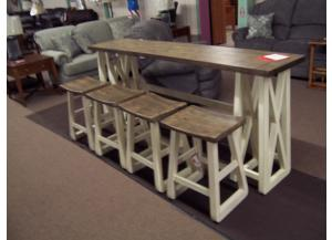 Sofa Bar w/ 4 stools Was $999.00