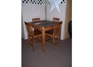 Oak with slate top pub set. Was $1298.00