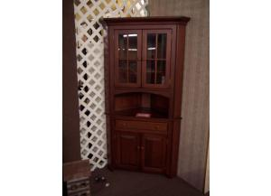 Amish made solid cherry corner hutch Was $2399