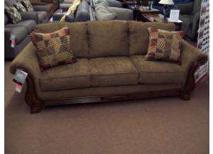 Wooden Arm Accent Sofa