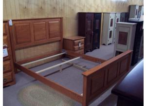 Amish made oak queen bed