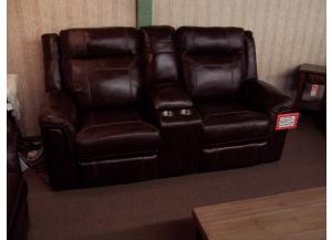 Duel reclining Leather LS W/Console