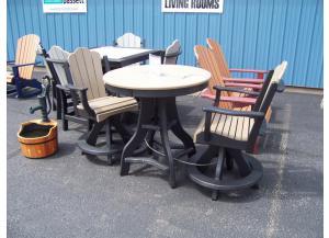 Amish made 3 Pc Poly Pub Table Set