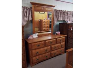 Amish made 9 drawer dresser w/mirror