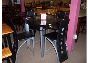 Glass Top 5 pc dinette