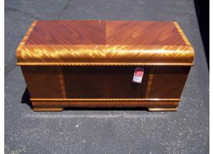 Waterfall cedar lined chest