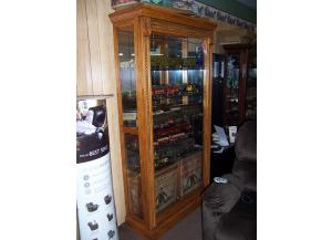 Oak sliding door curio. Was 1195.00