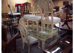 Glass top table w/6 chairs