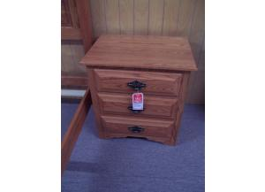 Image for Amish made 3 drawer nightstand