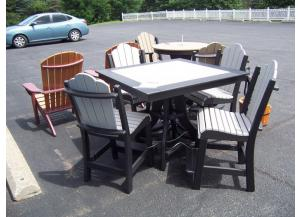 Amish made 5 Pc Poly Pub Table Set