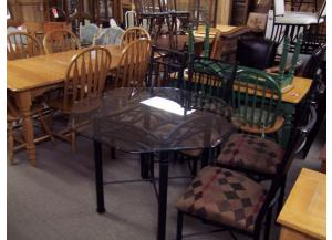 5 Pc glass top dinette