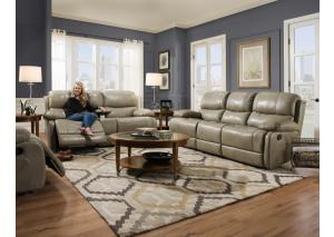 Corinthian 2pc dula reclining sofa and recliner