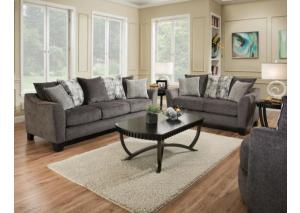 2Pc Tremont Slate Sofa & Lovseat