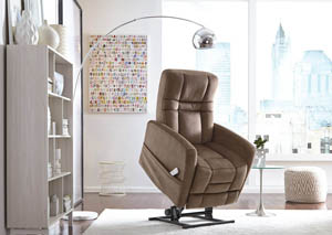 Image for Augusta Power Lift Recliner in  Kona Coffee Fabric