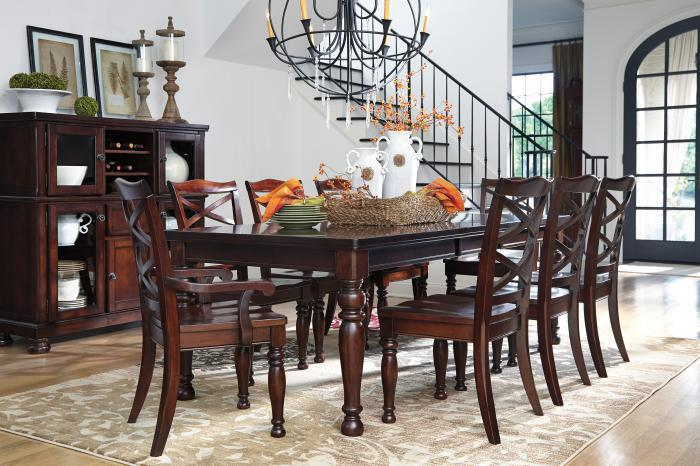 Porter Rect Table and 6 Side Chairs,Ashley