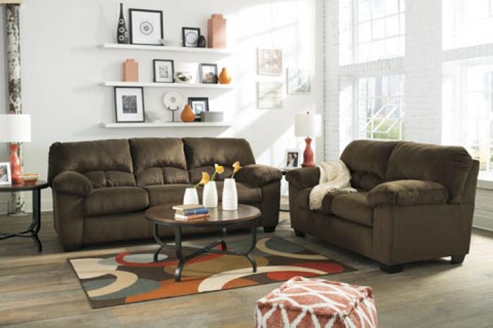 Dailey Chocolate Sofa and Loveseat,Ashley