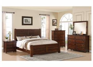 Dawson Creek Group: King Bed, Dresser, Mirror and Night Stand