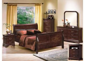 Crown Mark Louis Philip Group (Queen Bed, Dresser, Mirror, Night Stand)