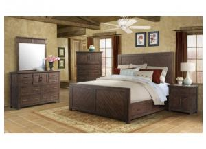 Jax Bedroom Group: Queen Bed, Dresser, Mirror and Night Stand