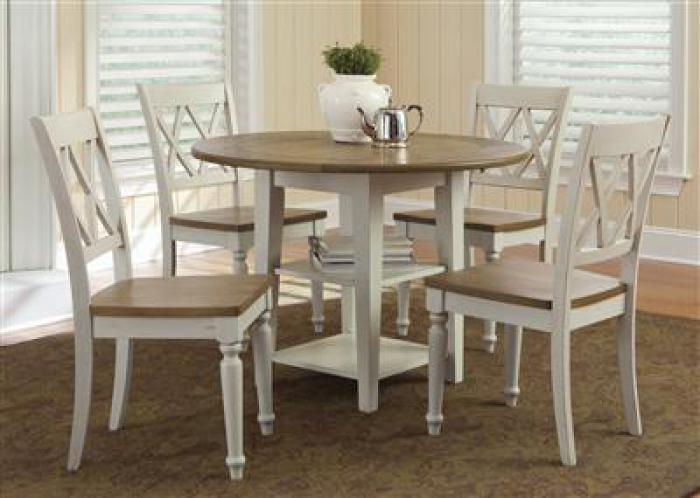 841 Al Fresco III Drop Leaf Table w/4 chairs,Liberty Furniture Industries
