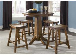 38 Creations II Pub Table w/4 Barstools