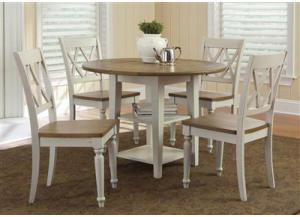 841 Al Fresco III Drop Leaf Table w/4 chairs