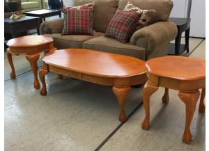 Bushline Coffee Table and Two End Tables