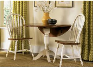 Low Country Drop-Leaf Table and 2 Chairs