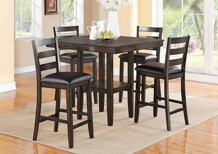 5 Piece Dinette w/Counter Height Table and 4 Counter Stools,IN STORE