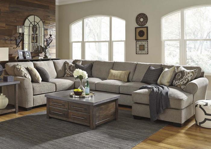 4 Piece Sectional with Plush Seating,IN STORE