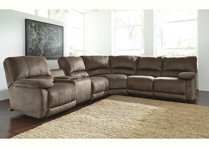 Brown 3 Piece Power Reclining Sectional,IN STORE
