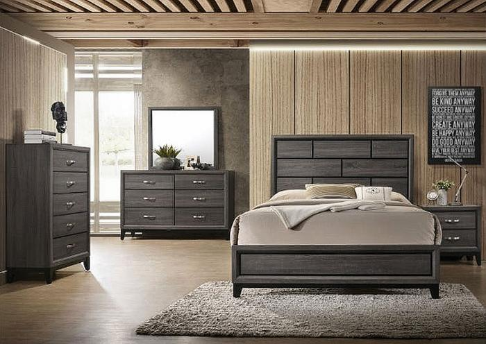 Roberts Furniture & Mattress 6 Piece Contemporary Bedroom Set w ...