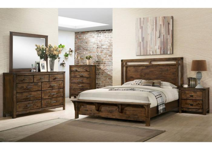 Roberts Furniture & Mattress 6 Piece Rustic Bedroom Set w ...