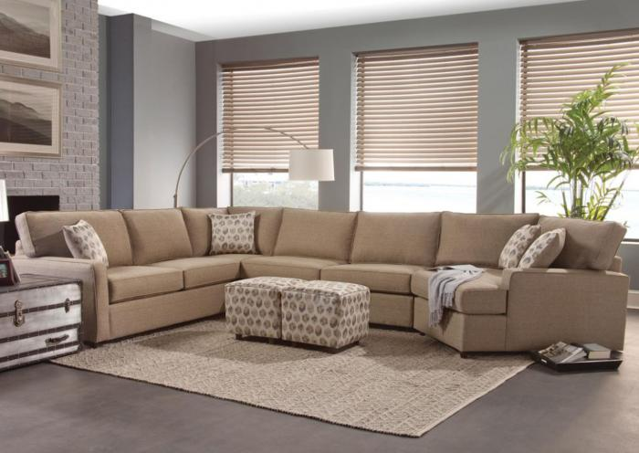 4 Piece Custom Sectional,IN STORE