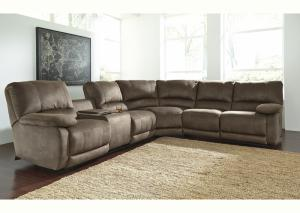 Brown 3 Piece Power Reclining Sectional
