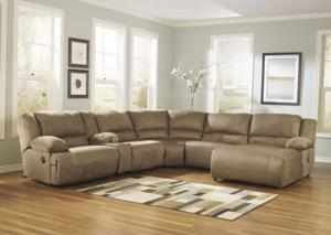 Microfiber Sectional w/Deep Seating and Plush Fill