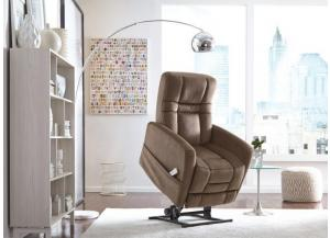 Augusta Power Lift Recliner in  Kona Coffee Fabric