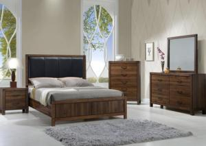 Belmont 6 Piece Bedroom Suite (Queen Bed w/Dresser, Mirror and Nightstand)