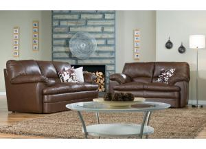 Marcella Sofa and Loveseat in All Top Grain Classic Leather