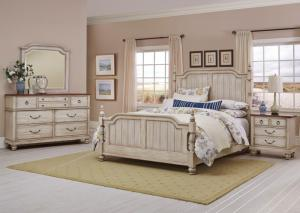 Arrendelle Queen Bed w/Dresser, Mirror and Nightstand