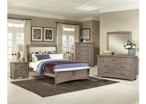 Transitions Driftwood Queen Bedroom Set