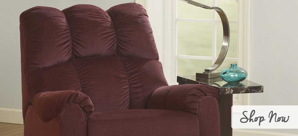 Raulo Burgundy Rocker Recliner